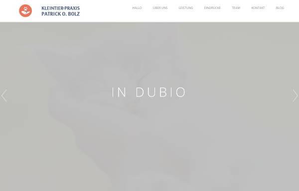 Vorschau von www.tierarzt-bolz.de, Kleintierpraxis Patrick O. Bolz