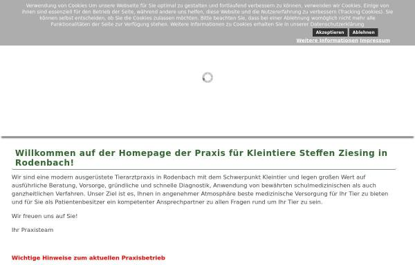 Vorschau von tierarzt-rodenbach.de, Kleintierpraxis Prakt. Tierarzt Steffen Ziesing