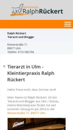 Vorschau der mobilen Webseite www.tierarzt-rueckert.de, Kleintierpraxis Ralph Rückert