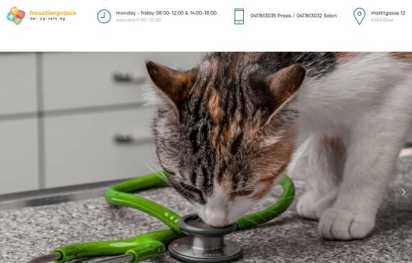 Vorschau von www.vetshop-baar.ch, Kleintierpraxis und Vet-Shop Dr. Marcel de Sepibus