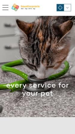 Vorschau der mobilen Webseite www.vetshop-baar.ch, Kleintierpraxis und Vet-Shop Dr. Marcel de Sepibus
