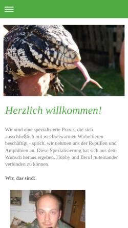 Vorschau der mobilen Webseite www.reptilienpraxis-niederbayern.com, Reptilienpraxis Niederbayern