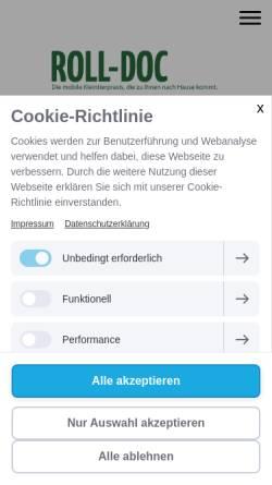 Vorschau der mobilen Webseite www.roll-doc.de, Roll-Doc - Die mobile Tierarztpraxis