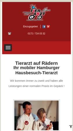 Vorschau der mobilen Webseite www.tierarzt-auf-raedern.de, Tierarzt auf Rädern Dr. Imke Rieksmeier
