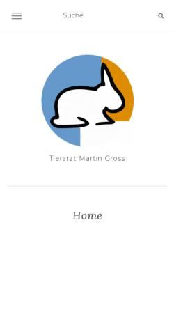 Vorschau der mobilen Webseite www.tierarztgross.at, Tierarzt Mag. med. vet. Martin Gross