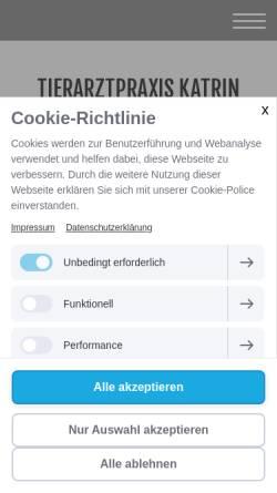 Vorschau der mobilen Webseite www.tierarztpraxis-in-strausberg.de, Tierärztin Gritli-Catrina Barich