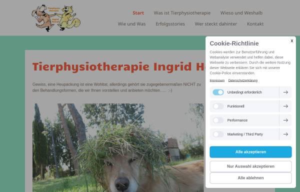 Vorschau von www.tierphysiotherapie-bayern.de, Tierärztin und Physiotherapie Gabriela Gülich