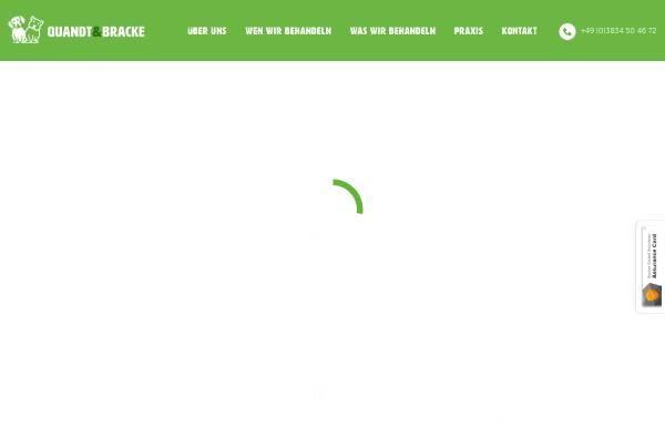 Vorschau von www.tieraerzte-quandtundbracke.de, Tierärztliche Gemeinschaftspraxis Bracke und Quandt