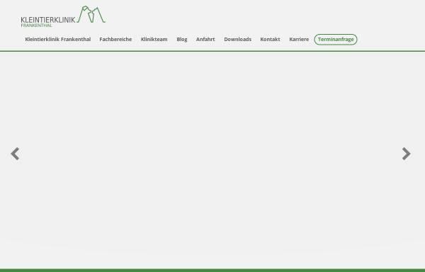 Vorschau von www.tierarzt-frankenthal.de, Tierärztliche Gemeinschaftspraxis Dr. med. vet. David und Dr. med. vet. Krützfeldt