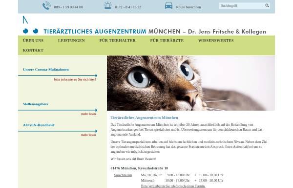 Vorschau von www.tier-augenheilkunde.de, Tierärztliche Praxis für Augenheilkunde Dr. Jens Fritsche