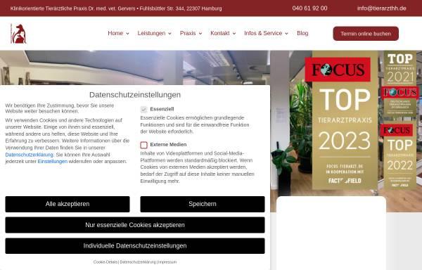 Vorschau von www.kleintiere-hamburg.de, Tierärztliche Praxis für Kleintiere Dr. Michael Gervers