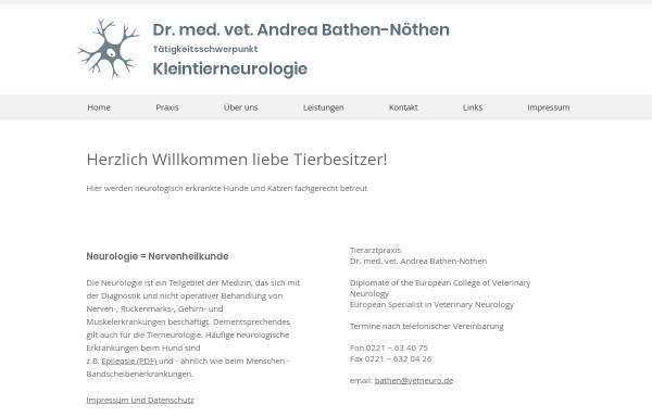 Vorschau von www.vetneuro.de, Tierarztpraxis Andrea Bathen-Nöthen