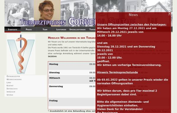 Vorschau von www.tierarzt-seithe.de, Tierarztpraxis C. Seithe