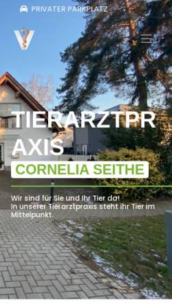 Vorschau der mobilen Webseite www.tierarzt-seithe.de, Tierarztpraxis C. Seithe