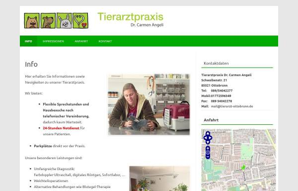 Vorschau von tierarzt-ottobrunn.de, Tierarztpraxis Dr. Carmen Angeli