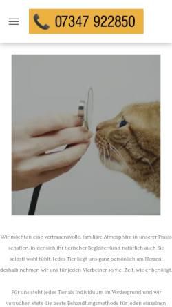 Vorschau der mobilen Webseite www.tierarztpraxis-dietenheim.de, Tierarztpraxis Dr. Ilona Hubert und Stefanie Gimmler