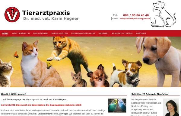 Vorschau von www.tierarztpraxis-hegner.de, Tierarztpraxis Dr. med. vet. Karin Hegner