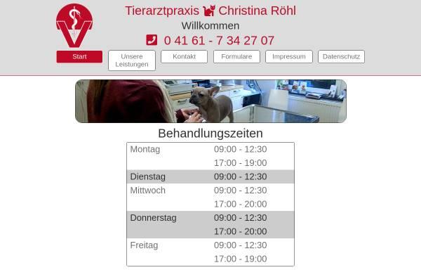 Vorschau von www.tierarzt-roehl.de, Tierarztpraxis für Kleintiere und Reptilien Christina Röhl