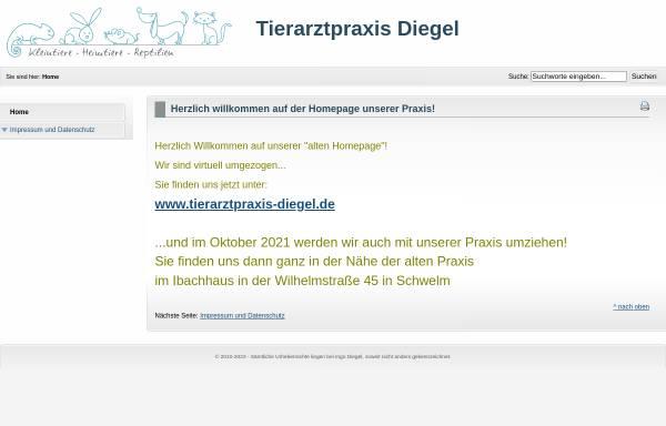 Vorschau von www.tierarzt-schwelm.de, Tierarztpraxis Ingo Diegel