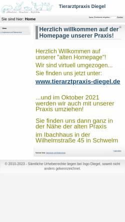 Vorschau der mobilen Webseite www.tierarzt-schwelm.de, Tierarztpraxis Ingo Diegel