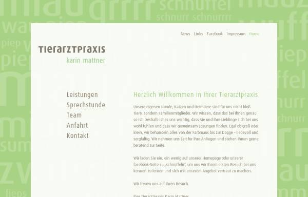 Vorschau von www.tierarztpraxis-grevenbroich.de, Tierarztpraxis Karin Mattner