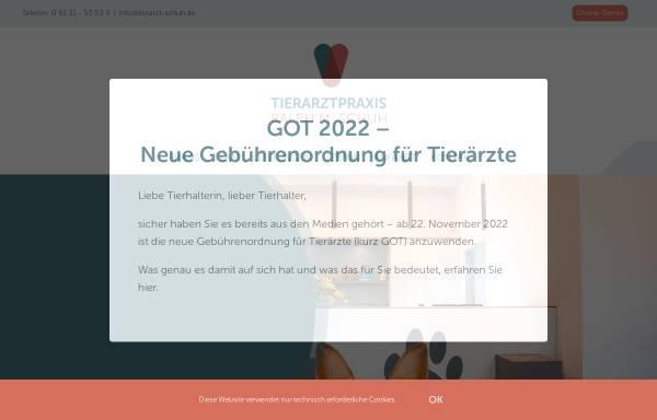 Vorschau von www.kleintierpraxis-schuh.de, Tierarztpraxis Ralph Schuh