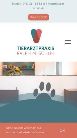 Vorschau der mobilen Webseite www.kleintierpraxis-schuh.de, Tierarztpraxis Ralph Schuh