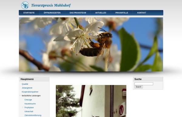 Vorschau von www.tiergesundheit-berlin.de, Tiergesundheitszentrum Berlin-Mahlsdorf