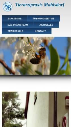 Vorschau der mobilen Webseite www.tiergesundheit-berlin.de, Tiergesundheitszentrum Berlin-Mahlsdorf