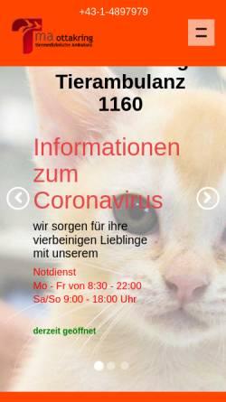 Vorschau der mobilen Webseite www.tma.at, Tiermedizinische Ambulanz Ottakring