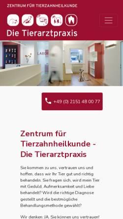 Vorschau der mobilen Webseite www.tierzahn.de, Tierzahnarzt Dr. Jochen Krüger