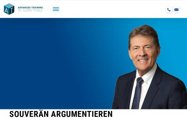 Vorschau von www.albertthiele.de, Dr. Thiele Albert Advanced Training