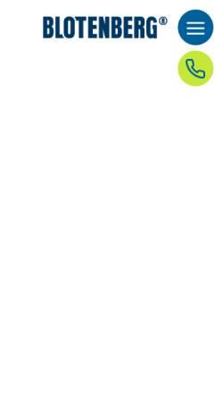Vorschau der mobilen Webseite www.blotenberg.de, Blotenberg GmbH