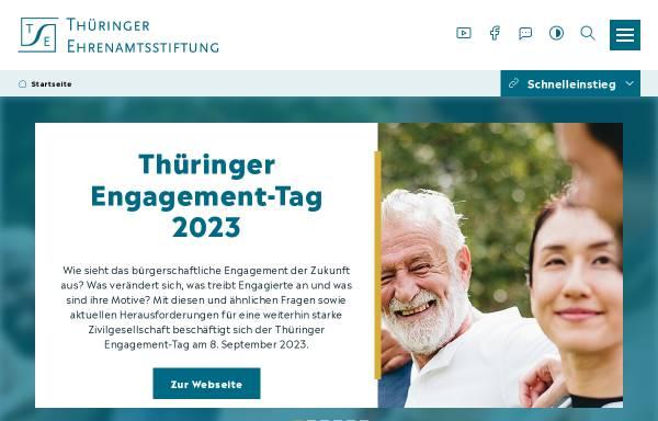 Vorschau von www.thueringer-ehrenamtsstiftung.de, Thüringer Ehrenamtsstiftung