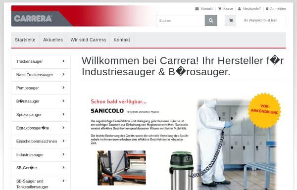 Vorschau von www.carrera-industriesauger.de, Carrera Industriesauger, Inh. Karl-Heinz Schmiegel