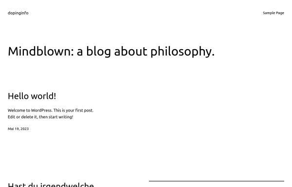 Vorschau von www.dopinginfo.de, Institut für Biochemie der Deutschen Sporthochschule Köln
