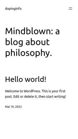 Vorschau der mobilen Webseite www.dopinginfo.de, Institut für Biochemie der Deutschen Sporthochschule Köln