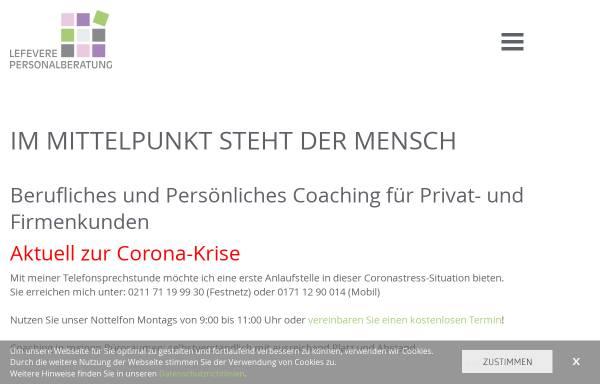 Vorschau von www.lefevere-personalberatung.de, ALefevere Personal- und Unternehmensberatung - Astrid Lefevere