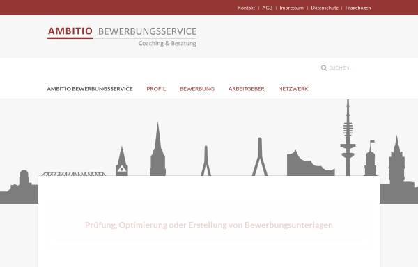 Vorschau von www.ambitio-bewerbungsservice.de, Ambitio Bewerbungsservice - Sabine Neumaier