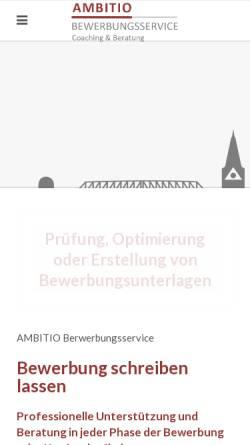 Ambitio Bewerbungsservice Sabine Neumaier In Hamburg Bewerbung