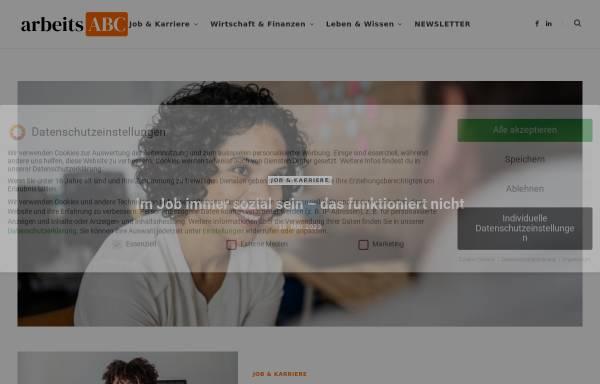 Vorschau von arbeits-abc.de, arbeits-abc.de - Servicebüro Eichwald, Fred Eichwald