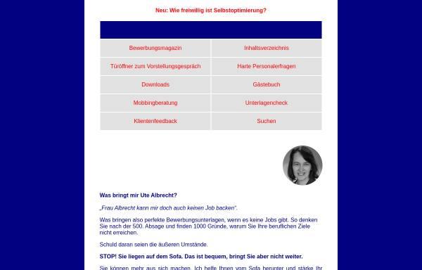 Vorschau von www.bewerbungsberatung-albrecht.de, Bewerbungsberatung - Ute Albrecht