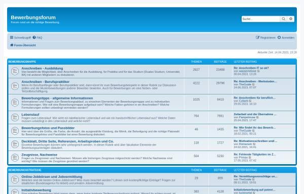 Vorschau von www.bewerbung-forum.de, Bewerbungsforum