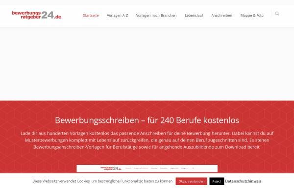 Vorschau von www.bewerbungsratgeber24.de, Bewerbungsratgeber24 - Helge-Christian Agethen