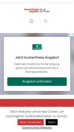 Vorschau der mobilen Webseite www.bewerbungsratgeber24.de, Bewerbungsratgeber24 - Helge-Christian Agethen