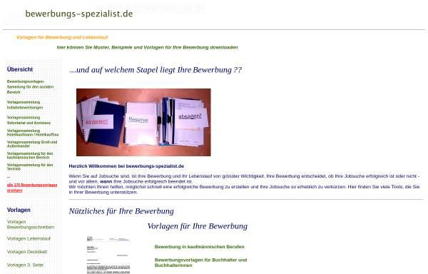 Vorschau von www.bewerbungs-spezialist.de, Bewerbungs-Spezialist.de - Gekoin Gesellschaft für kommerzielle Internetanwendungen mbH i.G.