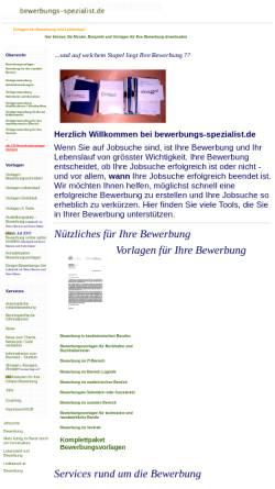 Vorschau der mobilen Webseite www.bewerbungs-spezialist.de, Bewerbungs-Spezialist.de - Gekoin Gesellschaft für kommerzielle Internetanwendungen mbH i.G.