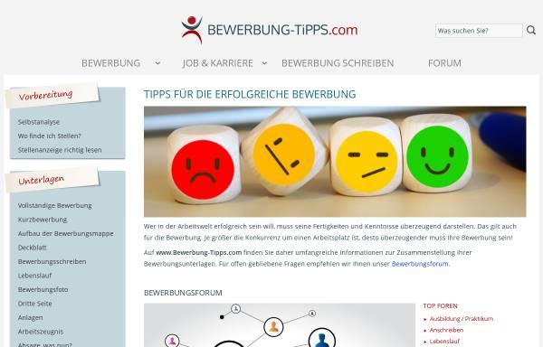 vorschau von wwwbewerbung tippscom bewerbung tippscom - Www Bewerbung Tipps Com