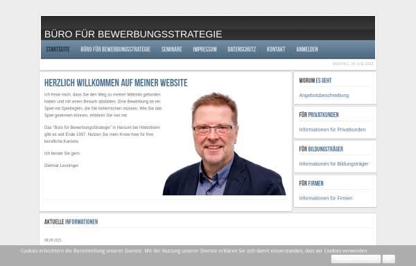 Vorschau von www.bewerbungsstrategie-online.de, Büro für Bewerbungsstrategie - Dietmar Leuninger
