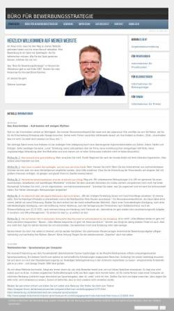 Vorschau der mobilen Webseite www.bewerbungsstrategie-online.de, Büro für Bewerbungsstrategie - Dietmar Leuninger